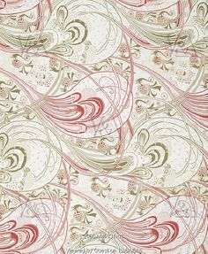 Printed Cotton Furnishing Fabric, by Christopher Dresser. Lancashire, England, 1899