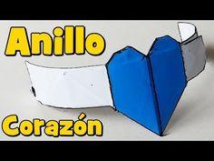 Anillo Corazón de Papel - Origami - YouTube