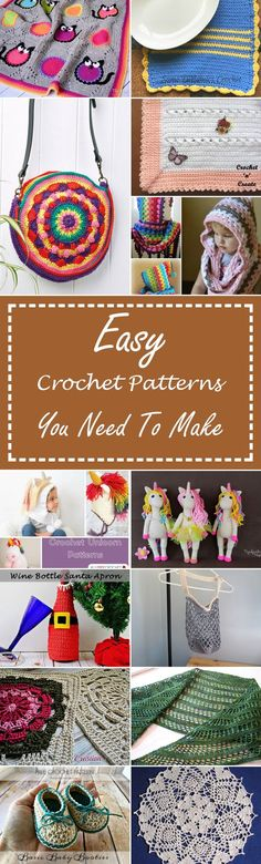 24 Easy Crochet Patterns You Need To Make