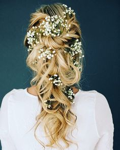 Loving this tousled baby's breath look! #perfection #love #tousled #hair #bridalhair #bride #blonde #wedding #glam #soft #whimsical #bridalbeauty #beauty #letsgetmarried #babysbreath #chic #nashvillewedding #southernweddings #twists #nychairstylist #inspiration