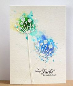 Good Photographs cobalt Blue Flowers Concepts Are you preserving a yard inside your garden? You actually definitely aim making it exciting and more interes Sympathy Cards, Greeting Cards, Memory Box Cards, Karten Diy, Watercolor Cards, Flower Cards, Creative Cards, Clear Stamps, Diy Cards