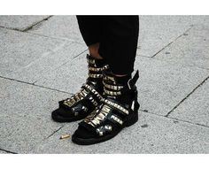 19 Studly Studded Sneakers #shoes trendhunter.com #trend #style #studsneakers #hot