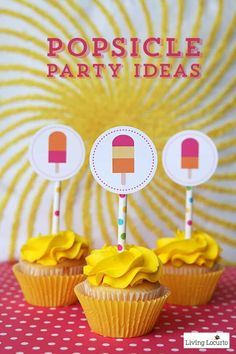 Fun Popsicle Party Ideas with cute printable cupcake tags and party invitations that look like popsicles. Flip Flop Cookie, Snail Craft, Popsicle Party, Kids Photo Props, Diy Party, Party Ideas, Party Crafts, Luau Party, Summer Parties
