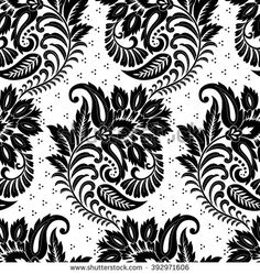 Find Damask Seamless Black White Floral Pattern stock images in HD and millions of other royalty-free stock photos, illustrations and vectors in the Shutterstock collection. Patchwork Patterns, Textile Patterns, Textile Design, Art Patterns, Border Embroidery Designs, Folk Embroidery, Paisley Background, Weave Shop, Drawing Stencils