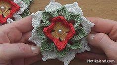 CROCHET Flower Tutorial #crochet #crochetflower #freecrochetpatterns #ravelry #crochettutorial