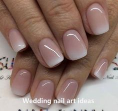 French Nails, Gel French Manicure, Simple Wedding Nails, Natural Wedding Nails, Simple Nails, Bride Nails, Dipped Nails, Neutral Nails, Nagel Gel