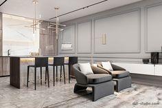Interior design studio based in Kiev, Ukraine Living Room Windows, Living Room Tv, Living Spaces, Dining Room, London Apartment Interior, Apartment Renovation, Modern Interior Design, Interior Architecture, Cool Apartments
