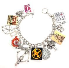 Hunger Games Charm Bracelet by KarinaMadeThis on Etsy, $17.50 omg i need this