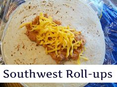Southwest Roll-ups. Super easy to make and freeze really well. Directions say to bake but we heat these on our George Forman and I'll try on the grill this summer.