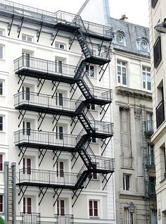 61 Ideas For Stairs Architecture Facade Fire Escape Stairs Window, Tile Stairs, Concrete Stairs, Deck Stairs, House Stairs, Garde Corps Design, Open Basement Stairs, Stairs Architecture, Fire Escape