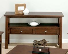 Jofran 251-4 - Milton Cherry Sofa Table with Two Drawers and a Shelf | Sale Price: $341.55