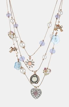 Betsey Johnson 'Vintage Bow' Multistrand Necklace available at #Nordstrom