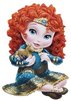 Images of Merida from Brave. Disney Princess Babies, Disney Babys, Disney Princesses And Princes, Princess Luna, Little Princess, Princesa Disney Aurora, Baby Disney Characters, Fictional Characters, Dark Disney