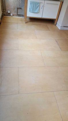 Before picture flooring in a kitchen Portland Street, Tile Floor, Flooring, Wood, Kitchen, Cooking, Woodwind Instrument, Timber Wood, Kitchens