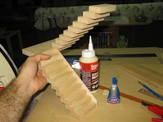 Late Victorian English Manor Dollhouse: 1/12 Miniature from Scratch: Attic staircase step by step