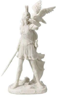 Athena Greek Goddess Of Wisdom And War with Owl Statue