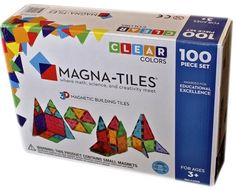 Magna+Tiles+Clear+Colors+100+Piece+Set+on+www.amightygirl.com