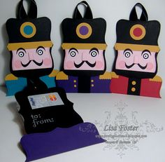 Pretty Pastimes: Nutcracker Gift Card Holders