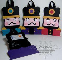 Pretty Pastimes: Nutcracker Gift Card Holders