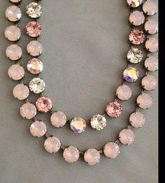 Swarovski+crystal+necklace+choker+Mariana+like+by+JEWELSbyJamieLee,+$75.00