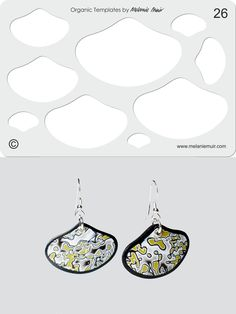 Organic Template No. 26 with Lichen Shell Earrings http://www.melaniemuir.com/tools/no-26-clear-acrylic-templatestencil