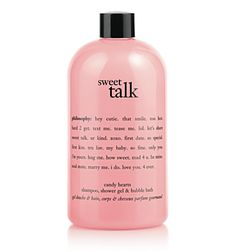 love, love, their shower & bath gels