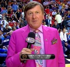 Dear God I love Craig Sager's suits.  I look forward to his interviews everytime I have to watch the game.
