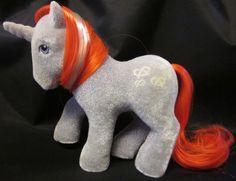"""A Pretzel Pony, #MyLittlePony #G1 #SoSoft #Twist has gorgeous flocking + Free Shipping! MY LITTLE PONY HORSE VTG G1 '85 Twist So Soft Unicorn Pretzels Red Hair 5"""""""