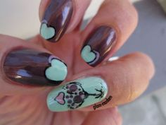 Essie Sable Collar with CND Mint Convertible accent