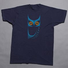 Owl Tee Navy now featured on Fab.