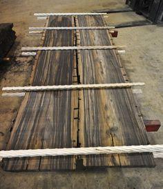 Gabon Ebony Logs and Flitch Cut Lumber in Stock!!! ~ Hearne Hardwoods Inc.