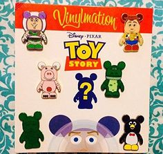 Authentic Disney Toy Story Vinylmation Booster Set 7Pin Set Includes Mystery Chaser Pin * To view further for this item, visit the image link.