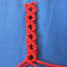 10 openwork chains of the 4 strands in the art of macrame - Fair Masters - handmade, handmade
