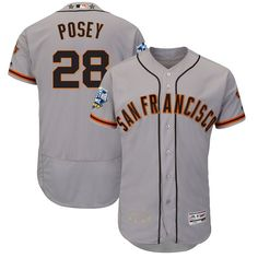 Buster Posey San Francisco Giants Majestic 2016 MLB All-Star Game Signature Flex Base Jersey - Gray