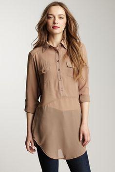 3/4 Button Down Shirt $25.00