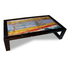 "nautical chart art - table shown: great lakes coffee table, 24""x30"