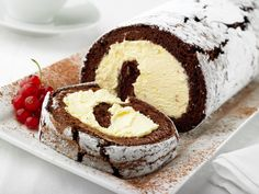 Try our yummy recipe for Chocolate Kirsch Roulade!
