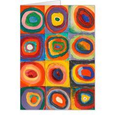 Kindergarten students studied the work of Wassily Kandinsky. Wassily Kandinsky was one of the greatest pioneers of abstract art. Art Kandinsky, Kandinsky For Kids, Wassily Kandinsky Paintings, Abstract Expressionism, Abstract Art, Paul Klee Art, Ecole Art, Art Plastique, Elementary Art