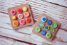 Quick and Easy Button Thumbtacks {from the gals at Eighteen 25}