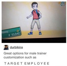My trainer is actually super badass. Too bad I made myself pokebroke buying those expensive virtual clothes