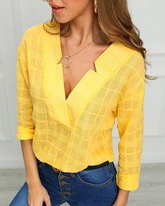 Shop Sexy Trending Blouses & Shirts – IVRose offers the best women's fashion Blouses & Shirts deals Trend Fashion, Womens Fashion, Fashion 2018, Cheap Fashion, Fashion Styles, Fashion Fashion, Latest Fashion, Fashion Ideas, Winter Fashion