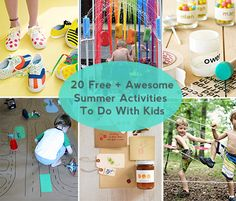 summer kids activities and crafts