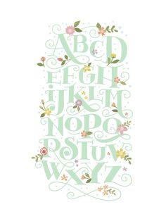 Blooming letters Wall Art Prints by Jennifer Wick | Minted