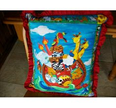 Noah's Ark Quilted Cushion