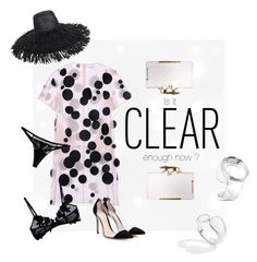 """""""Is it clear enough now ?"""" by pmichaud ❤ liked on Polyvore featuring Paskal, Charlotte Olympia, Gianvito Rossi, ZIIIRO, Pomellato, La Perla, Eric Javits, clear and Seethru"""