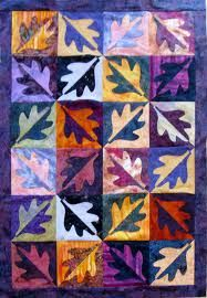 If you don't want nother holiday quilt, how about a batik leaf exchange? http://featheredfibers.files.wordpress.com/2008/07/woodhall31.jpg