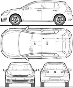 Most Loved Car Blueprints for Modeling Lamborghini Miura, Ferrari F40, Maserati, Bugatti, Volkswagen Polo, Volkswagen Transporter T4, Volkswagen Models, Ford Gt, Roadster