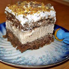 prajitura Hungarian Cake, Mousse, Cake Recipes, Dessert Recipes, Romanian Food, Romanian Recipes, Turkish Recipes, Food Cakes, Homemade Cakes
