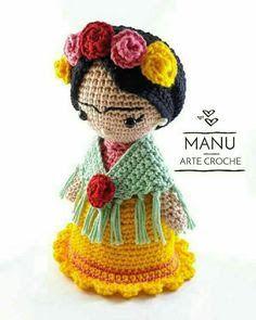 Resultado de imagem para almohadon frida crochet