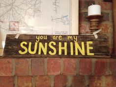 You are my sunshine rustic wood sign on Etsy, $22.00